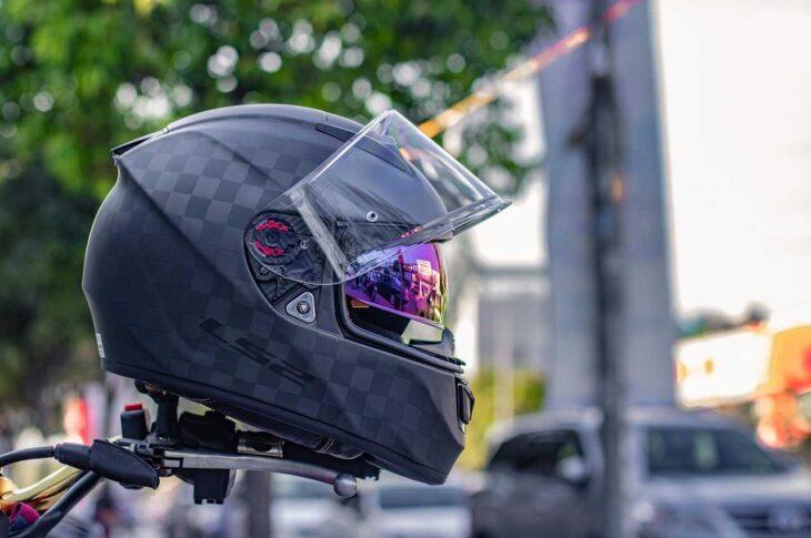 airport, motorcycle, helmets